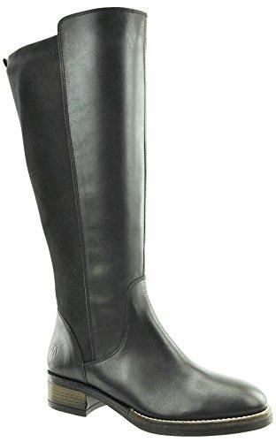 JJ Footwear Damen Stiefel Leder/str.text Annfield XXL Schwarz Nappa