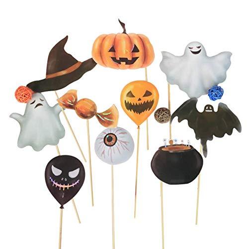 Fledermaus Kostüm Themen - shengo Halloween Fotomaske Papier Kürbis Fledermaus Kinder dekorative Masken Kostüm Foto Requisiten, Halloween Thema Party Dekoration