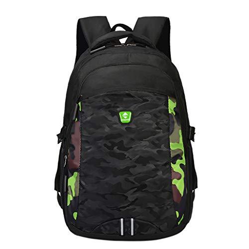 XNBZW Kinderrucksäcke Schulrucksäcke Schultasche Mädchen Jungen Backpack Daypacks 300D Reiserucksack Unisex Junior High School Schülerrucksack(B,30 * 50 * 20 cm) -