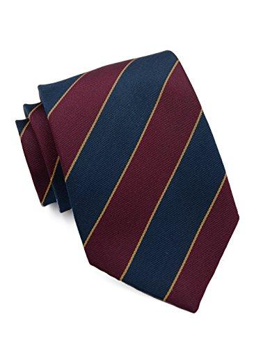 PARSLEY Hochwertige Regiments-Krawatte, reine Seide, 8,5 cm breit, Handarbeit, Herrenkrawatte, Alltag & Business Tie (Britische Streifen-krawatte)
