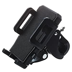 SODIAL (R)Support Universel Fixation Guidon Velo pour Telephone Mobile MP3 GPS Noir
