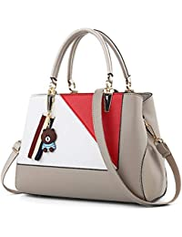ea98cbd9e479d WERERFG Damen Handtasche PU Leder Patchwork Crossbody Taschen für Frauen  2018 Damen Messenger Bags