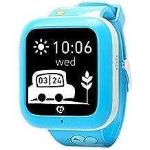 1*Misafes Inteligente Reloj GPS Perseguidor con Llamada Telefónica Para Niños Deportes miSafes Monitor Seguridad Google Mapa Vía App Gratis para Teléfono Inteligente iOS Android Iphone Samsung Lg Htc Huawei Google Nexus Azul