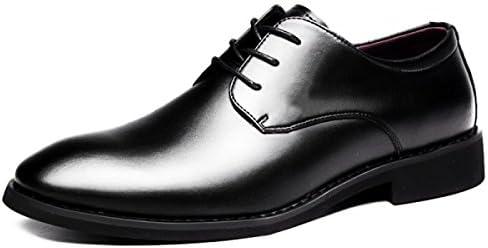 LYZGF Hombres Caballeros Primavera Y Otoño Negocios Ocio Moda Encaje Zapatos De Cuero,Black-38