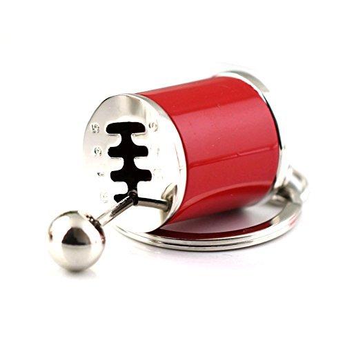 Maycom® Sechsgang-Schaltgetriebe mit Schalthebel an Schlüsselring, kreativer Schlüsselanhänger, rot, S