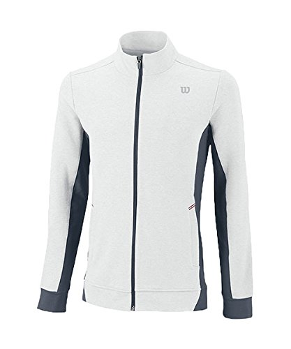 Wilson Herren Jacke M Rush Knit Jacket, weiß-White/Coal, XXL