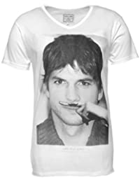 Tee Shirt Eleven Paris Kuty M Ashton Kutcher Blanc