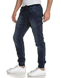 BLZ jeans - Jogg jean bleu foncé délavé homme