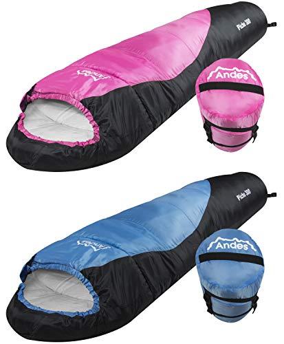 3-Jahreszeiten-Schlafsack für Kinder - Rosa/Schwarz ()