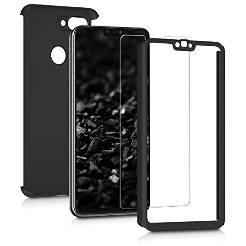 kwmobile Funda para Xiaomi Mi 8 Lite - Carcasa Protectora Completa con [Cristal Templado] - Cover con Protector de Pantalla [Duro]
