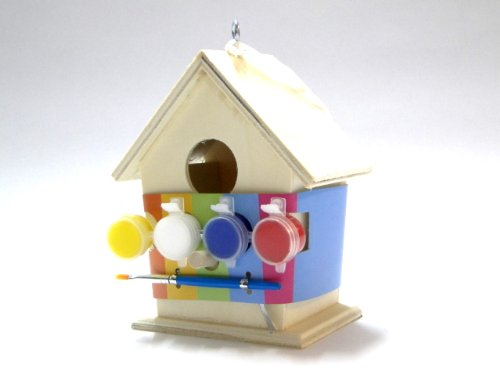 Art And Craft Paint Your Own Wooden Bird House Test