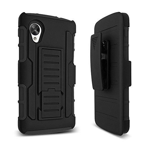 Google Nexus 5 Hülle,Cover Case Hartem Heavy Duty Kickstand Stoßfest Handyhülle Für LG Google Nexus 5 Tasche Gürtelclip Rüstung Armor Hybride Schutzhülle