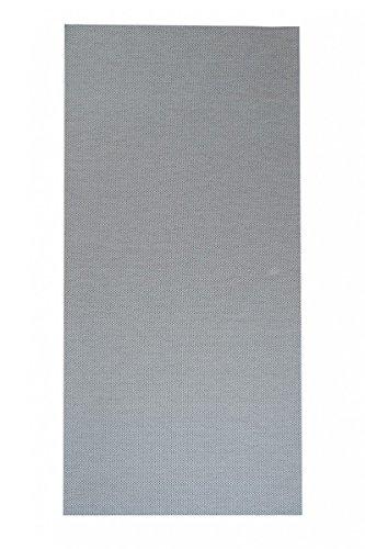 Flachgewebe Teppich Sahara Läufer - versandkostenfrei robuste Kunstfaser in Sisal-Optik | schadstoffgeprüft pflegeleicht und strapazierfähig | dekorativ Wohnzimmer Schlafzimmer Büro Flur Diele, Farbe:Grau, Größe:80 x 200 cm