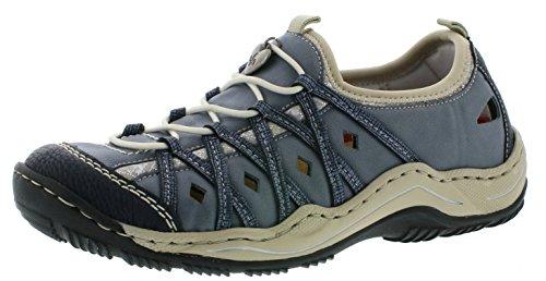 Rieker Damen L0567-14 Sneaker, Blau (Pazifik/Adria/Royal/Silverflower 14), 39 EU