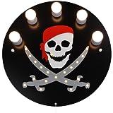 Elobra Deckenleuchte Pirat, schwarz 124543