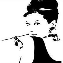 Homk101 Audrey Hepburn Wand Stickers7 Muster Wandtattoos Schlafzimmer Hauptdekorationen DIY Wandkunst Wohnzimmer