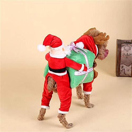 Ofanyia animali domestici vestiti del costume del cane con babbo natale per halloween party natale regalo di natale