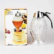 Honey Dispenser, Acrylic Syrup Dispenser Container Squeeze Bottle Honey Jar Juice Dispenser Honey Bee Drip Bottle 3088TT