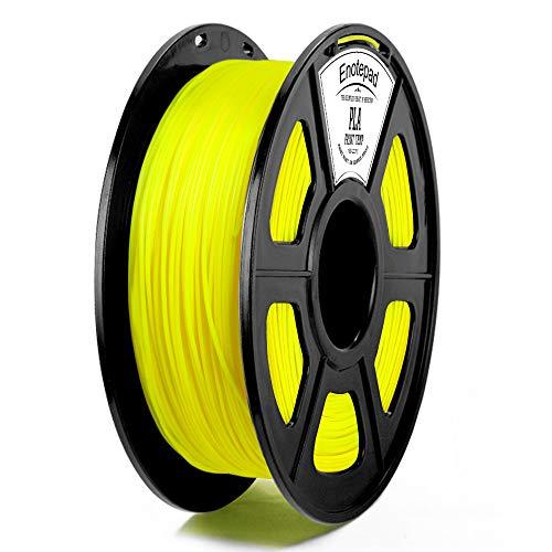 Gelb PLA 3D Drucker Filament,±0,02 mm Toleranz,1kg/Spule,1,75mm PLA,Umweltfreundliches Filament Geeignet für 3D-Drucker/3D-Druckstift