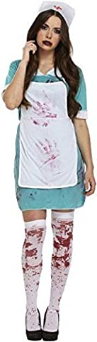 Damen-Halloween: Bloody Nurse [Spielzeug] (Mad Krankenschwester Halloween Kostüm)