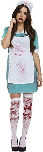 Damen-Halloween: Bloody Nurse (Halloween Kostüme Mad Men)