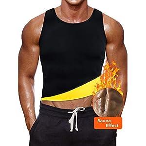 NOVECASA Weste Gewichtsverlust Suana/Hosen Mann Neopren Kostüme Shorts Body Shaper Schwitzen, Fettverbrennung für Fitness Yoga