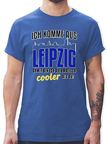 Städte - Ich komme aus Leipzig - S - Royalblau - L190 - Tshirt Herren und Männer T-Shirts