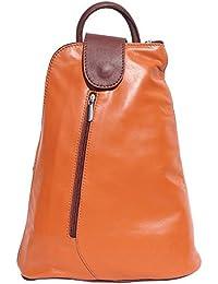 Florence Leather Market BORSA A ZAINO TRASFORMABILE IN ZAINO MONOSPALLA 2009 (Cuoio-marrone)