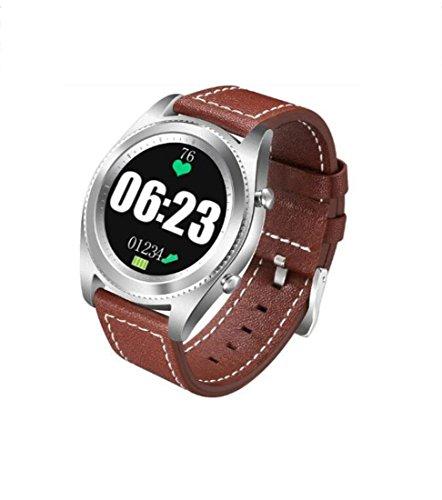 Hzhy Smart Watch Bluetooth Musik Smart Watch Schrittzähler Pulsmesser Blutdruckmessgerät Schlaf Monitor Unterstützung IOS/Android Paare Männer und Frauen Paar Uhr (Farbe : Rot, Größe : L)