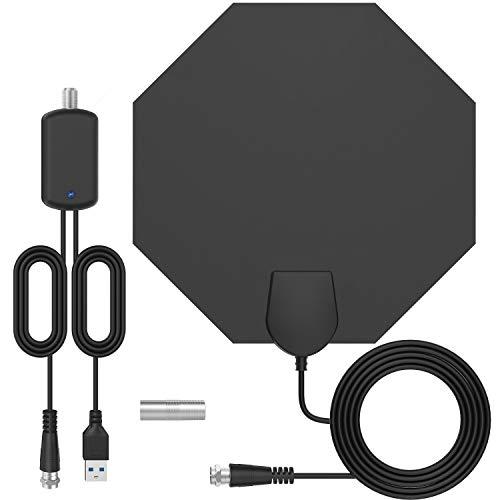 Bqeel TV Antenne dvbt2 Antenne HDTV-Verstärker Zimmerantenne unterstützt 4K/ HD /1080P/ freie Kanäle /Digitale HDTV-Antenne für DVB-T/DVB-T2/DTMB/ATSC/DMB-T/ISDB-T usw.