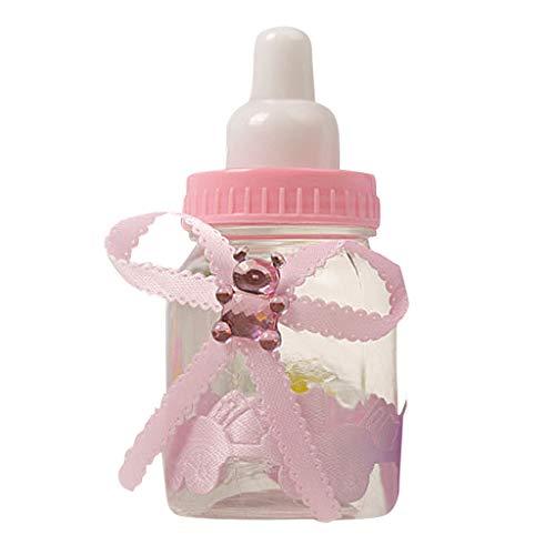 Mitlfuny Unisex Baby Kinder Jungen Zubehör Säuglingspflege,12 Stück Baby Bär Flaschen für Dusche Gefälligkeiten Party Decor Gefälligkeiten Candy Box Flasche (Für Jungen Baby Gefälligkeiten)