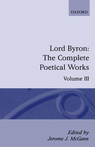 The Complete Poetical Works: Volume 3