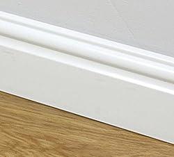 95mm Plastic Skirting Board - Ogee/Torus Architrave Trim - 1m Length