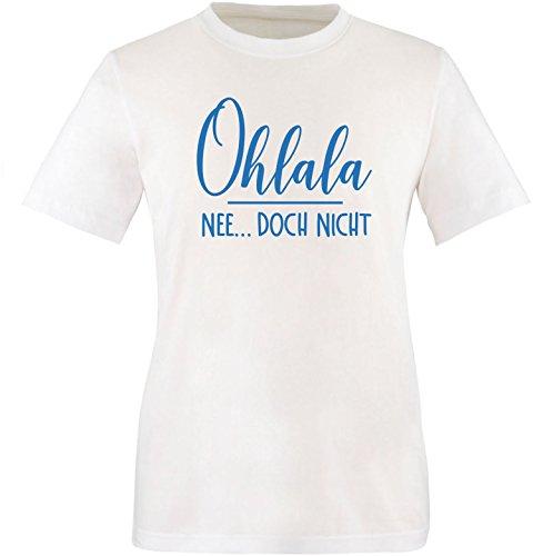 EZYshirt® Ohlala - Nee...doch nicht Herren Rundhals T-Shirt Weiß/Blau