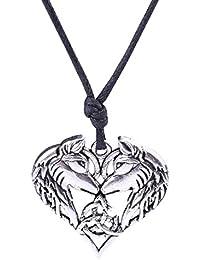 Skyrim Fashion - Collar con colgante en forma de corazón con nudo irlandés
