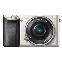 """Sony A6000 - Cámara EVIL de 24 Mp (pantalla LCD 3"""", estabilizador óptico, vídeo Full HD, WiFi), plateado - Kit cuerpo con objetivo 16-50 mm"""