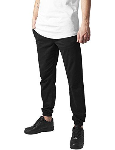Urban Classics Herren Stretch Twill Jogging Pants Hose Schwarz (Black 7)