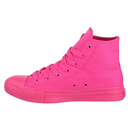 Elara Unisex Sneaker   Sport Scarpe Per Uomo Donna   High Top Sneakers Tessile Scarpe 36–47 All Fushia