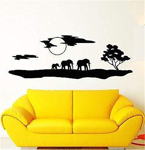 Pegatinas Vinilo Arte de la pared Calcomanías Letras Citas Decoración Elefantes África...
