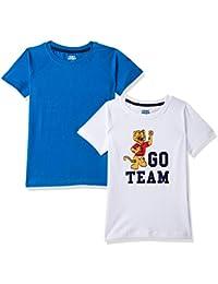 Amazon Brand - Jam & Honey Boy's Tribal Regular fit T-Shirt (Pack of 2)