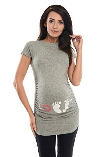 Maternity Love - Slogan Gedruckt Baumwolle Schwangerschaft Top T-Shirt