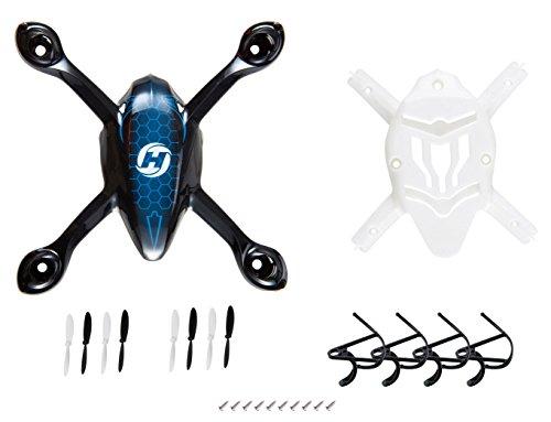 DeeRC Rc Ersatzteile für Hs170 Quadrocopter Drohne inkl. Hülle , Schutzrahmen und 2 Paare Propellern