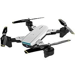 JHSHENGSHI Drone avec Camera 4k 1080P GPS Pliable Rc Drone Micro Full HD Stabilisé Batterie 10 Ans Professionnel Enfant Professionnel 30 Minutes Longue Duree 2019 Caméra, White