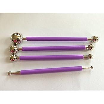 Modellierwerkzeug SET Metall Ball Tool Torten Fondant Tortendeko Ausstecher 169 lila