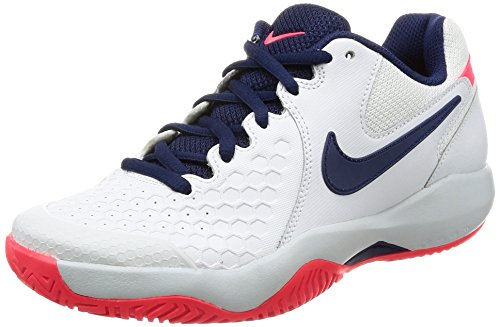 Nike, Scarpe da Tennis Donna Bianco White/Binary Blue/Pure Platinum, Bianco (White/Binary Blue/Pure Platinum), 36 EU
