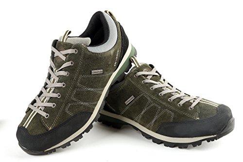 Beaume Herren Low Walking Schuhe wasserdicht schnüren sich oben Wildleder oberen Wanderschuhe Olive