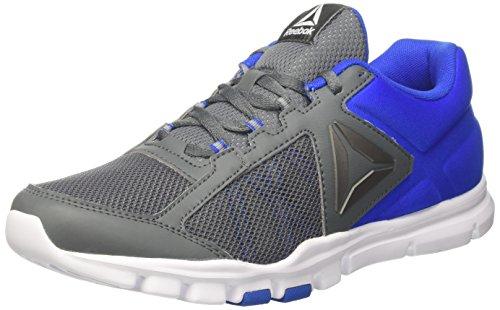 Reebok Bs8031, Zapatillas de Deporte para Hombre, Gris (Alloy / Vital Blue / White), 42.5 EU