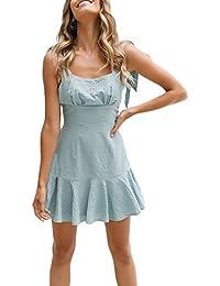Vestido Mujer Verano Elegantes Sin Mangas Bandage Espalda Descubierta  Dresses Fiesta Disfraz Slim Fit Ajustado Volantes a8285e5c70c6
