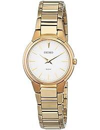 Seiko Reloj Análogo clásico para Mujer de Cuarzo con Correa en Acero Inoxidable 733104