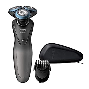 Philips Series 7000 Wet & Dry Smart Shaver with SmartClick Beard Styler, Grey/Blue - S7960/17